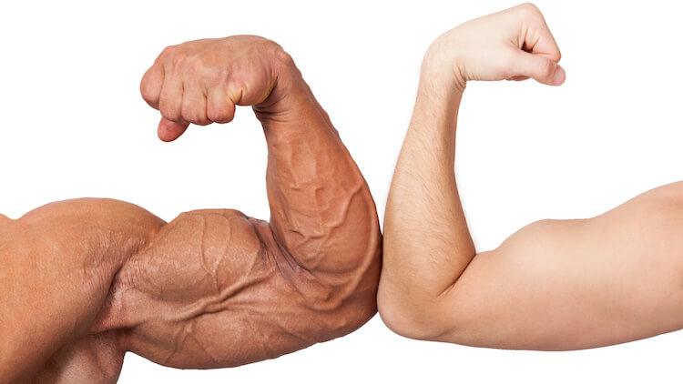 huge small biceps