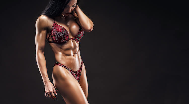 muscle fitness woman