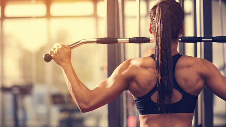 muscular girl gym