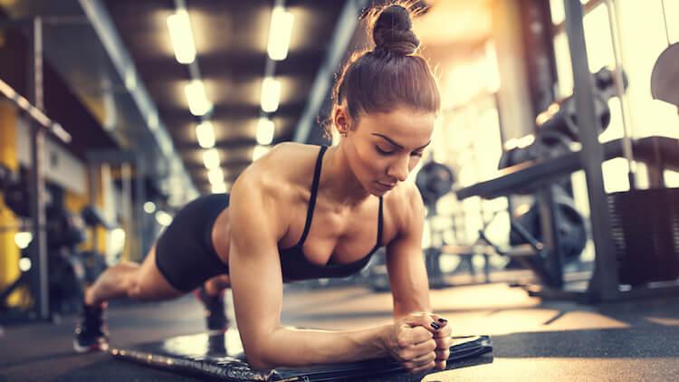girl gym plank