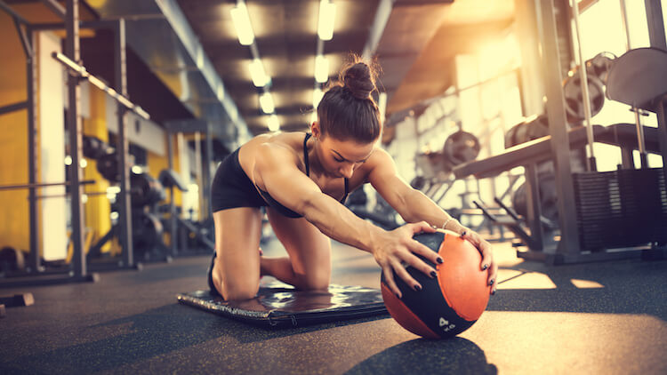 girl gym ball